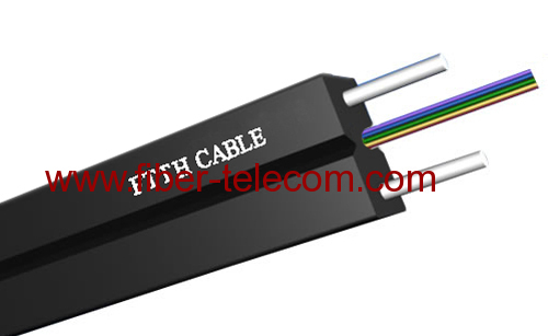 GJXH-6B6 FTTH Indoor Cable 6 Core with 0.4mm Steel Wire Strength Member
