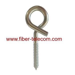 Galvanized Electric Line Fittings Screws Pigtail Hook Bolt For FTTH Solution