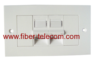 2-port UK type Flat Faceplate