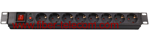 "19"" Germany type PDU socket 8 ways"
