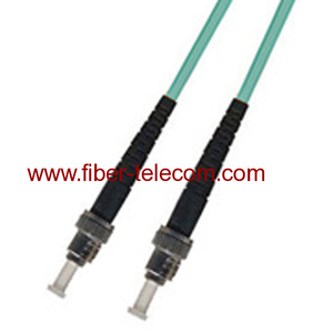 ST-ST OM3 Multi mode Simplex AQUA Fiber Optic Patch Cord