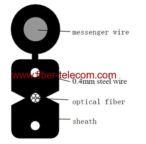 FTTH Drop Cable 4cores Fig.8 with 0.4mm Steel Wire Strength member