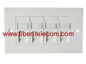 4-port UK type Flat Faceplate 140*86mm