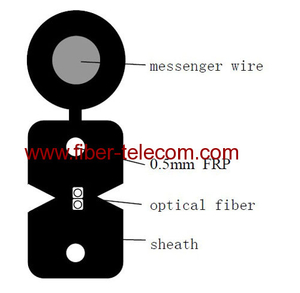 GJYXFCH-2B6 FTTH Drop Cable 2 Fiber Fig.8 with 0.5mm FRP Strength Member