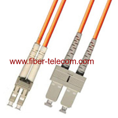 LC-SC Multi Mode Duplex Fiber Optic Patch Cord