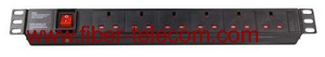 "19"" UK type PDU socket 6 ways"