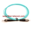 ST to ST MM OM3 Simplex Fiber Patch Cord