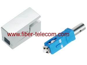 SC Bare Fiber Optic Adaptor