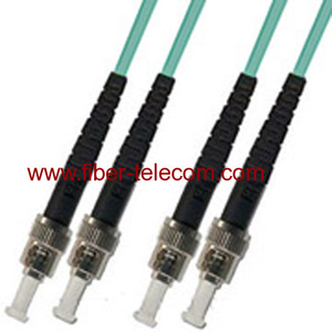 ST-ST Multi Mode OM3 Duplex Fiber Optic Patch Cord